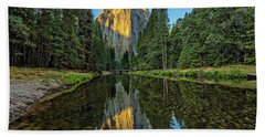 Cathedral Rocks Morning Beach Towel by Peter Tellone