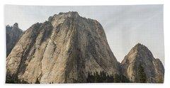 Cathedral Spires Yosemite Valley Yosemite National Park Beach Towel