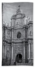 Beach Towel featuring the photograph Cathedral Valencia Spain by Joan Carroll