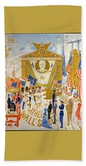 The Cathedrals Of Wall Street - History Repeats Itself Beach Towel by John Stephens