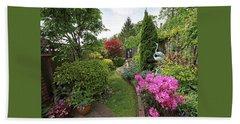 Cathy's Garden - A Little Slice Of England Beach Towel by Gill Billington