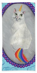 Caticorn Beach Towel