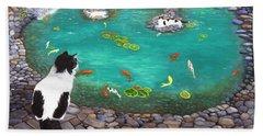 Cats And Koi Beach Sheet