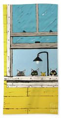 Cats Daydreaming Beach Towel
