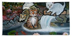 Cats In The Wild Beach Towel