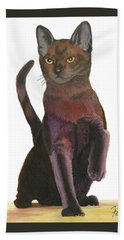 Beach Towel featuring the painting Cats Meow by Ferrel Cordle