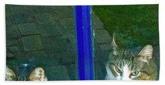 Cats On Baylor Street Beach Towel
