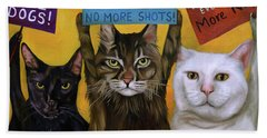 Cats On Strike 2 Beach Towel