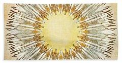 Cattail Mandala - Beach Towel
