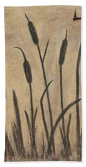 Cattails 2 Beach Towel by Trish Toro