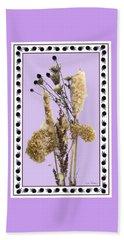 Beach Sheet featuring the digital art Cattails And November Flowers by Lise Winne