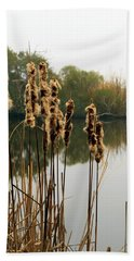 Cattails Beach Towel