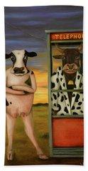 Cattle Call Beach Sheet by Leah Saulnier The Painting Maniac