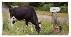 Beach Towel featuring the photograph Cattle Dr. by Robin-Lee Vieira
