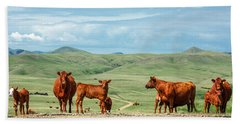Cattle Guards Beach Towel