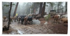 Cattle Moving Beach Towel
