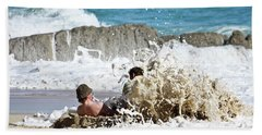 Beach Sheet featuring the photograph Caught From Behind by Terri Waters