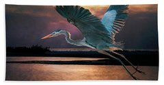 Caught In The Afterglow Beach Towel