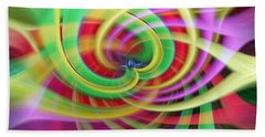 Caught Up In A Colorful Swirl Beach Towel