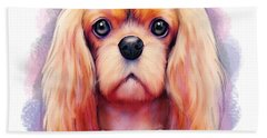 Beach Towel featuring the painting Cavalier Pearls  by Catia Lee