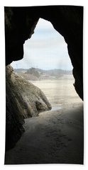 Beach Towel featuring the photograph Cave Dweller by Holly Ethan