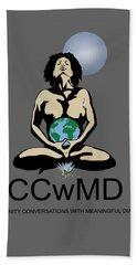 Ccwmd Logo Tshirt Ready Beach Sheet