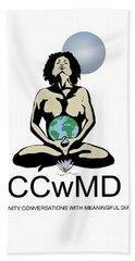 Ccwmd Logo White Background Beach Towel
