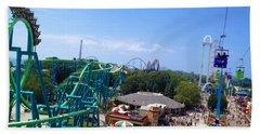 Cedar Point Amusement Park Beach Towel