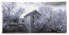 Cedar Point Mill In Infrared Beach Towel