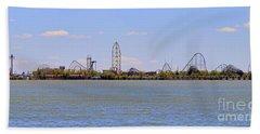Cedar Point Panorama1aaa Beach Towel