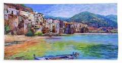 Cefalu Sicily Italy Beach Towel