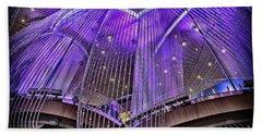 Ceiling Decor In Las Vegas Beach Towel by Walt Foegelle