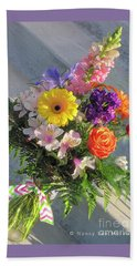 Beach Towel featuring the photograph Celebrate With A Bright Bouquet by Nancy Lee Moran
