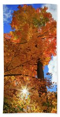 Beach Towel featuring the photograph Celebrating Autumn by Gary Hall