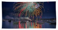 Beach Sheet featuring the photograph Celebration In Boothbay Harbor by Rick Berk