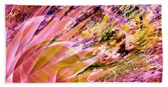 Celebration In Pink Beach Towel by Stephanie Grant