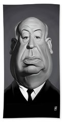 Celebrity Sunday - Alfred Hitchcock Beach Towel