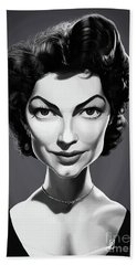 Beach Towel featuring the digital art Celebrity Sunday - Ava Gardner by Rob Snow