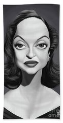 Celebrity Sunday - Bette Davis Beach Towel by Rob Snow