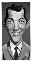 Beach Towel featuring the digital art Celebrity Sunday - Dean Martin by Rob Snow