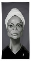 Celebrity Sunday - Eartha Kitt Beach Towel by Rob Snow