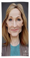 Beach Towel featuring the digital art Celebrity Sunday - J.k.rowling by Rob Snow