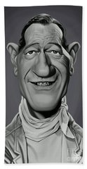 Beach Towel featuring the digital art Celebrity Sunday - John Wayne by Rob Snow
