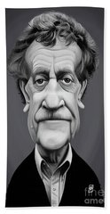 Beach Towel featuring the digital art Celebrity Sunday - Kurt Vonnegut by Rob Snow