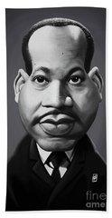 Beach Towel featuring the digital art Celebrity Sunday - Martin Luther King by Rob Snow