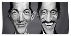 Beach Towel featuring the digital art Celebrity Sunday - Sammy Davis Jnr And Dean Martin by Rob Snow