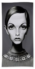 Celebrity Sunday - Twiggy Beach Towel by Rob Snow