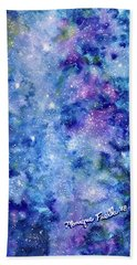 Beach Towel featuring the painting Celestial Dreams by Monique Faella