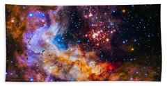 Celestial Fireworks Beach Towel by Marco Oliveira