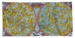 Celestial Map Of The Planets Beach Towel